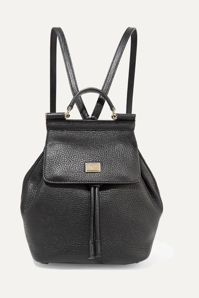 SICILY SMALL TEXTURED-LEATHER BACKPACK