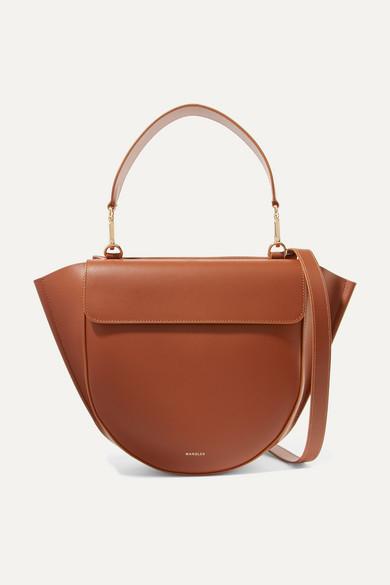 6f995d6c6 Wandler Hortensia Medium Leather Shoulder Bag - Brown In Tan ...