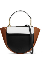 Hortensia mini color-block leather shoulder bag
