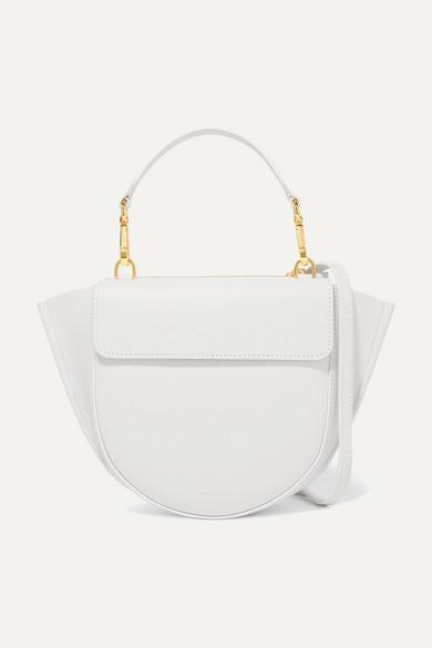 Wandler - Hortensia Mini Leather Shoulder Bag - White