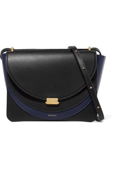Luna Color-Block Leather Shoulder Bag