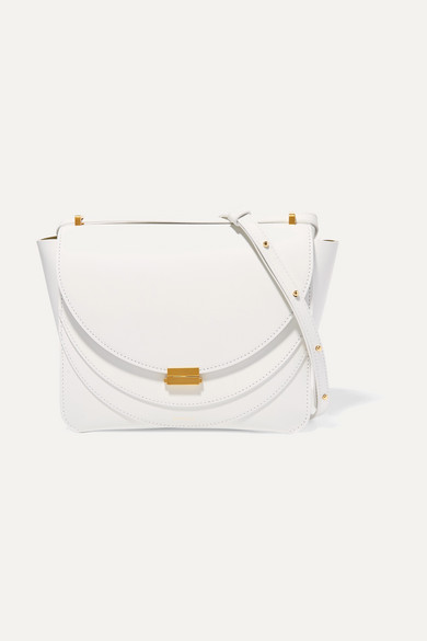 """""""Luna"""" Shoulder Bag In White Leather"""