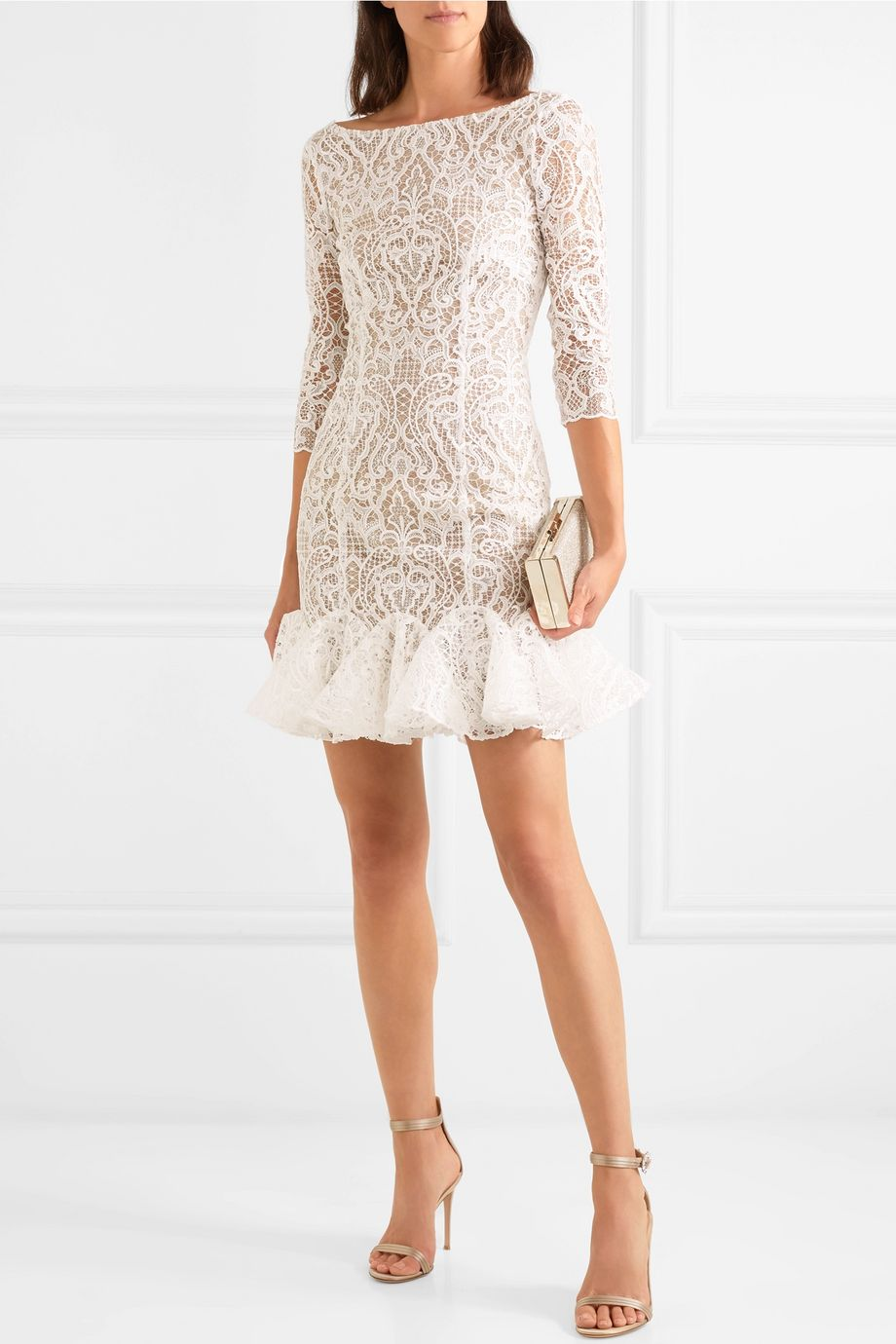 Rime Arodaky Gillian ruffled lace mini dress