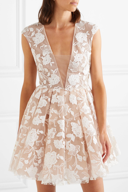 Rime Arodaky Rory embroidered tulle mini dress