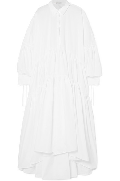 Cheap Largest Supplier Cleo Oversized Ruffled Cotton Maxi Dress - White Cecilie Bahnsen Cheap Inexpensive Sale Largest Supplier kt82LL