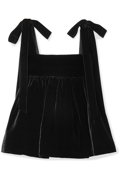 Celina Velvet Top, Black