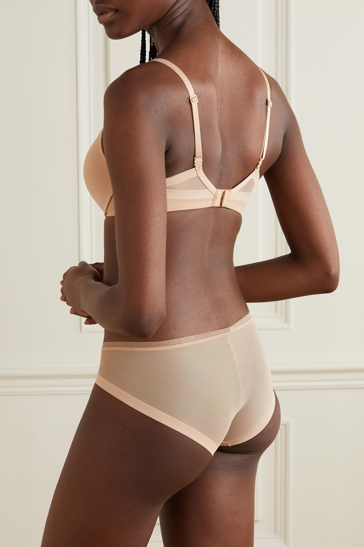 Calvin Klein Underwear Sculpted Demi Lightly Lined Plunge Push-Up stretch-jersey and mesh underwired bra
