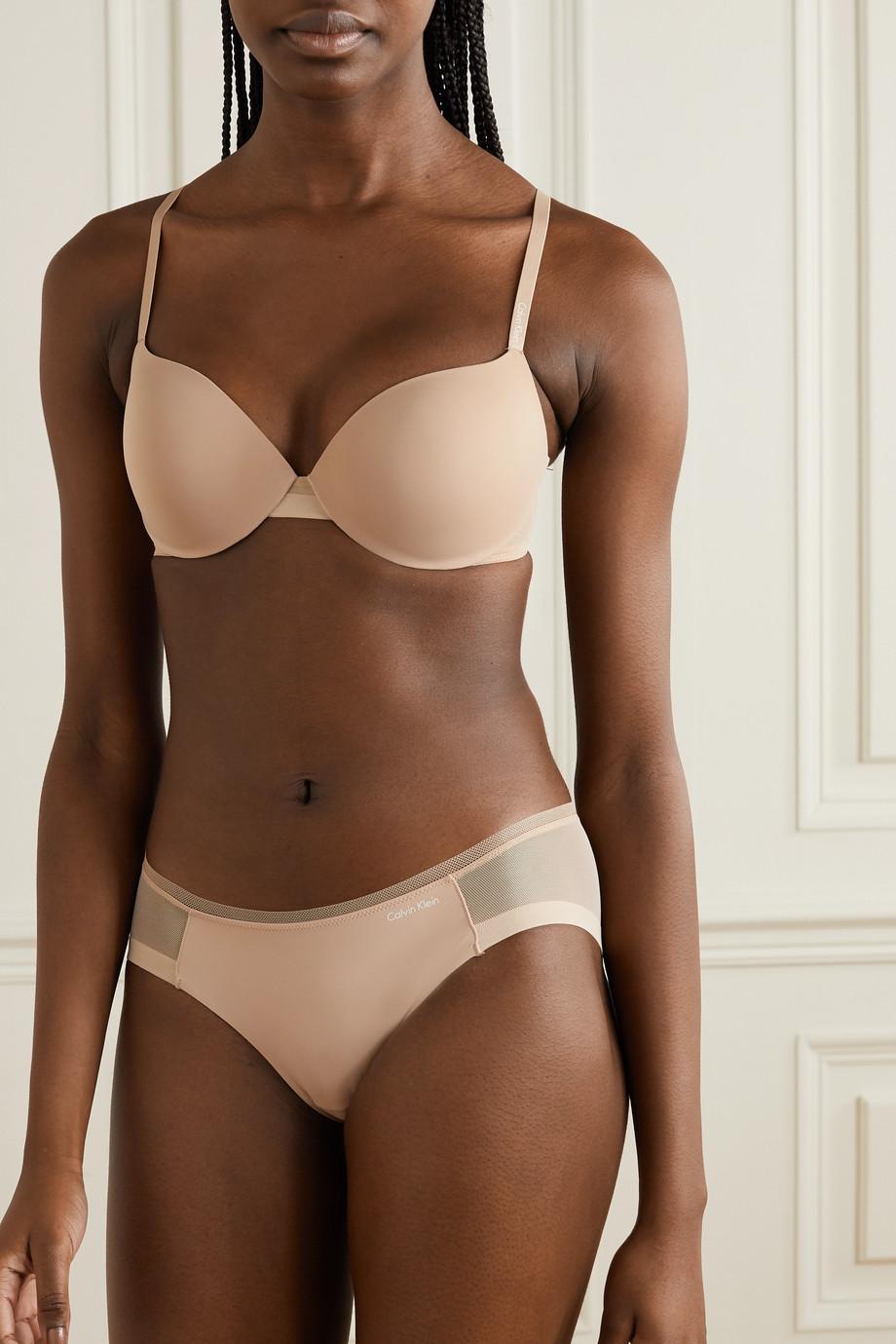 Calvin Klein Underwear Sculpted stretch-jersey and mesh briefs