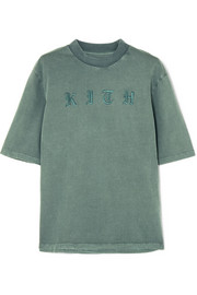 Kith Mei embroidered cotton-jersey T-shirt