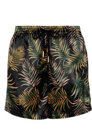 Kith Ellen embroidered printed stretch-satin shorts