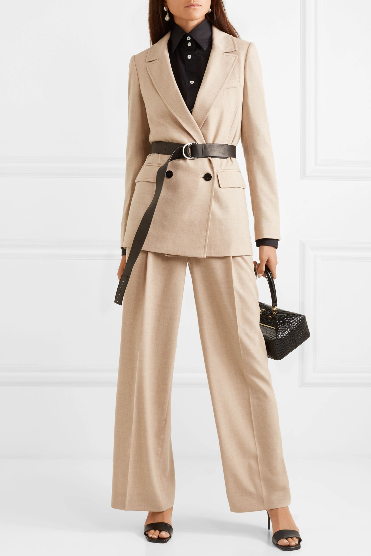 CASASOLA Pleated wool wide-leg pants