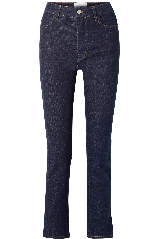 CASASOLA Cropped high-rise straight-leg jeans