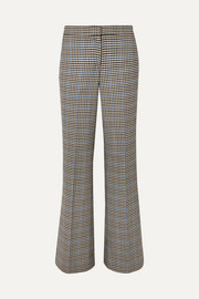 JW Anderson Houndstooth wool and cotton-blend flared pants