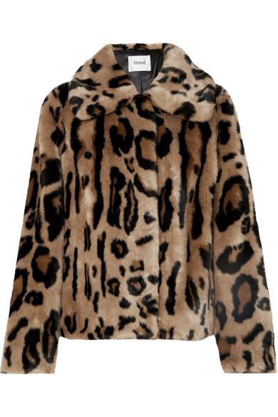STAND - Gilbertine Leopard-print Faux Fur Jacket - Leopard print