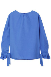 Cordage cotton-poplin blouse