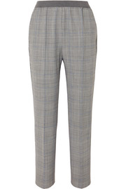 Agnona Prince of Wales checked twill straight-leg pants