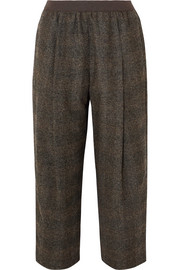 Agnona Cropped checked tweed straight-leg pants