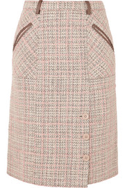 Agnona Checked tweed skirt