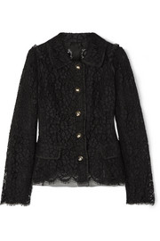 Dolce & Gabbana Cotton-blend guipure lace jacket