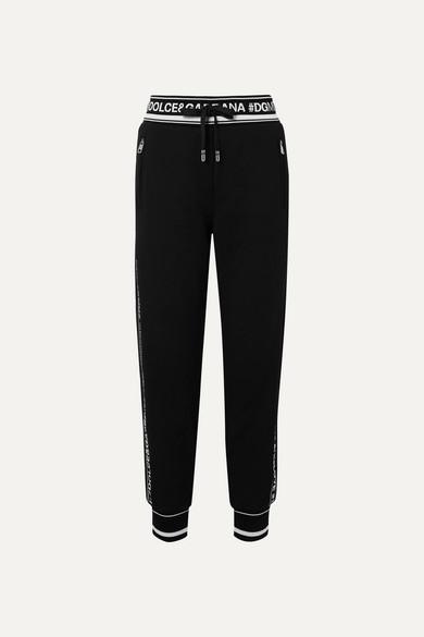 51fa405c590aa0 Dolce   Gabbana   Pantalon de survêtement en jersey de coton à ...