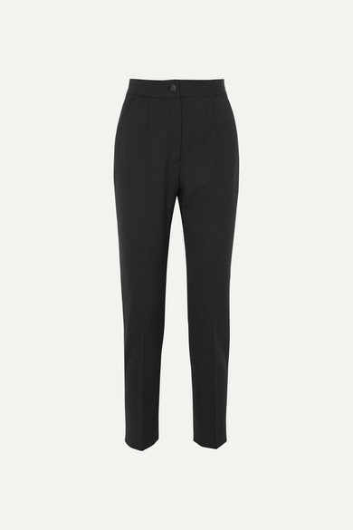 Wool Blend Straight Leg Pants by Dolce & Gabbana