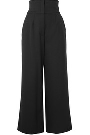 Dolce & Gabbana Cropped grain de poudre wool-blend wide-leg pants