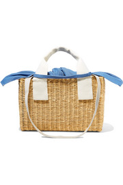 Ninon straw and cotton-canvas tote