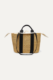 Muuñ Caba straw and cotton-canvas tote