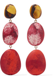 River Rock resin earrings