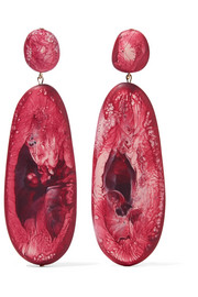 River Stone resin earrings