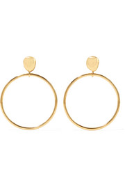 Mineral gold-plated hoop earrings