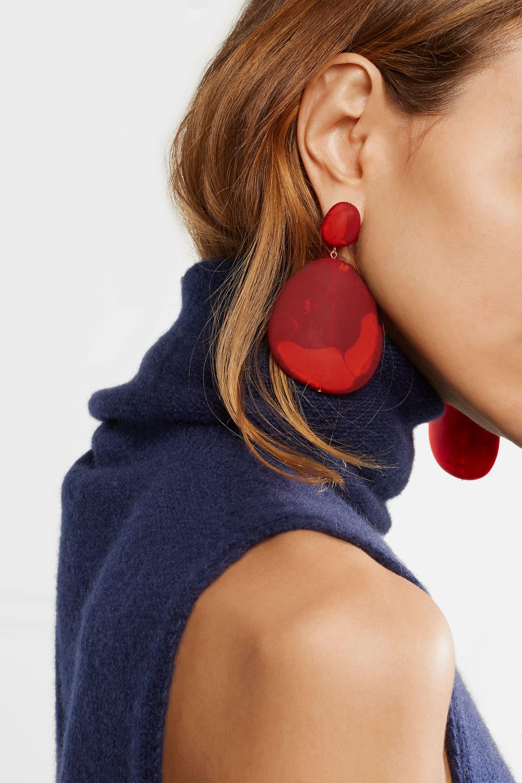 Dinosaur Designs River Stone resin earrings