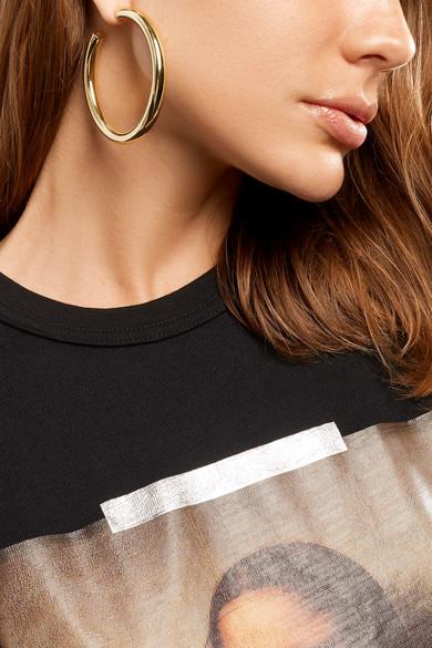 7ca37ee39 Shoptagr | Samira Gold Plated Hoop Earrings by Jennifer Fisher