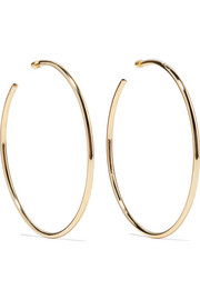 Lilly gold-plated hoop earrings