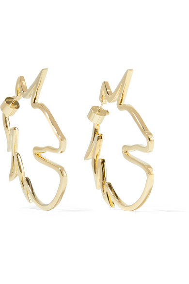 Unicorn Gold-Plated Earrings