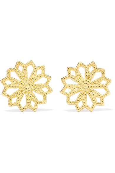 GRACE LEE Lace Deco Vi 14-Karat Gold Earrings