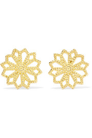 Lace Deco VI 14-karat gold earrings