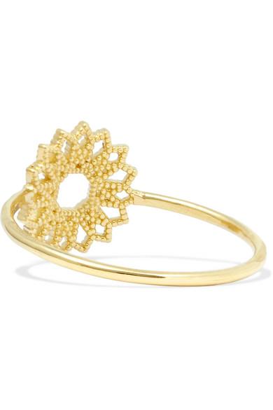 Lace Deco Viii 14-karat Gold Ring - 5 Grace Lee Designs QZq2NYsV0