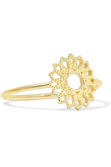 GRACE LEE Petite Lace Deco Vi 14-Karat Gold Ring
