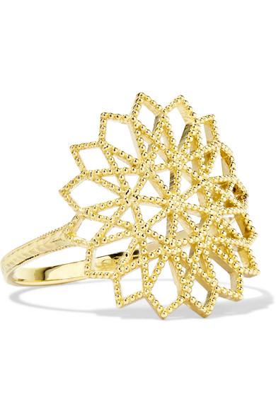 GRACE LEE Lace Deco Vi 14-Karat Gold Ring