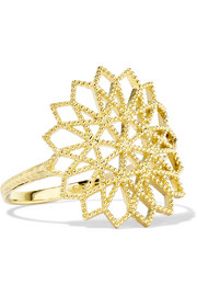 Grace Lee Lace Deco VI 14-karat gold ring