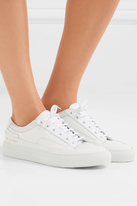 Common Projects Achilles Super 皮革帆布运动鞋