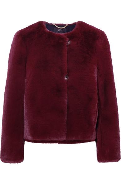 J.Crew - Faux Fur Jacket - Burgundy