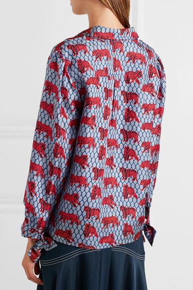 0ebb4e6a91cf06 J.Crew | Lentil printed silk-satin twill blouse | NET-A-PORTER.COM
