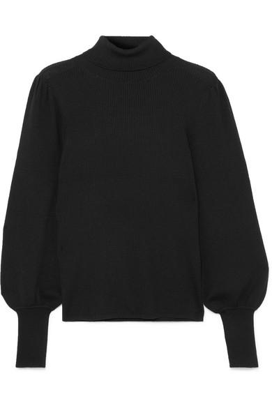 J.Crew - Isa Ribbed Merino Wool Turtleneck Sweater - Black