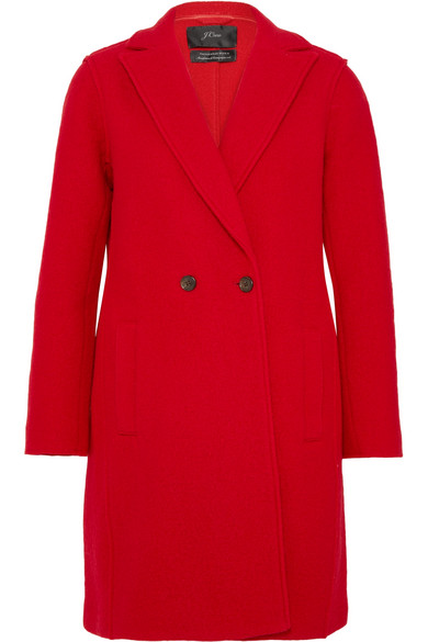 J.Crew - Daphne Wool-felt Coat - Red