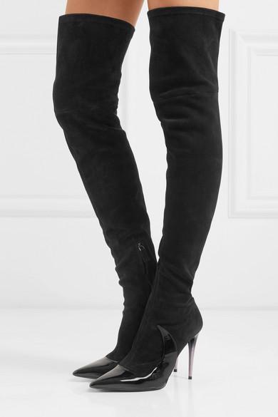 Matteo Mars | Stocking und Ala Overknees aus Velours- und Stocking Lackleder 987d8a
