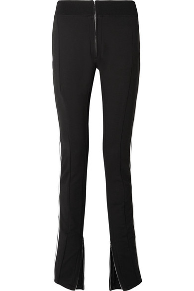 TRE Melanie Striped Stretch Wool-Blend Skinny Pants in Black