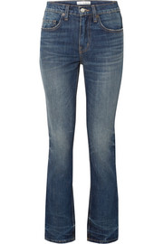 Binx distressed mid-rise straight-leg jeans