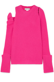 Cutout cashmere sweater